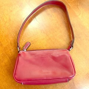 Girl's red leather purse